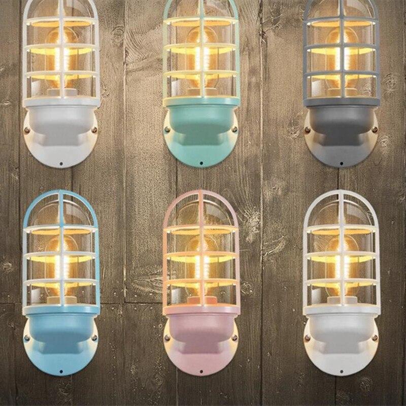 Nordic Прекрасный многоцветный Спальня настенный светильник Macaroons Освещение в гостиную дети света Ванная комната Кофе магазин украшения свет