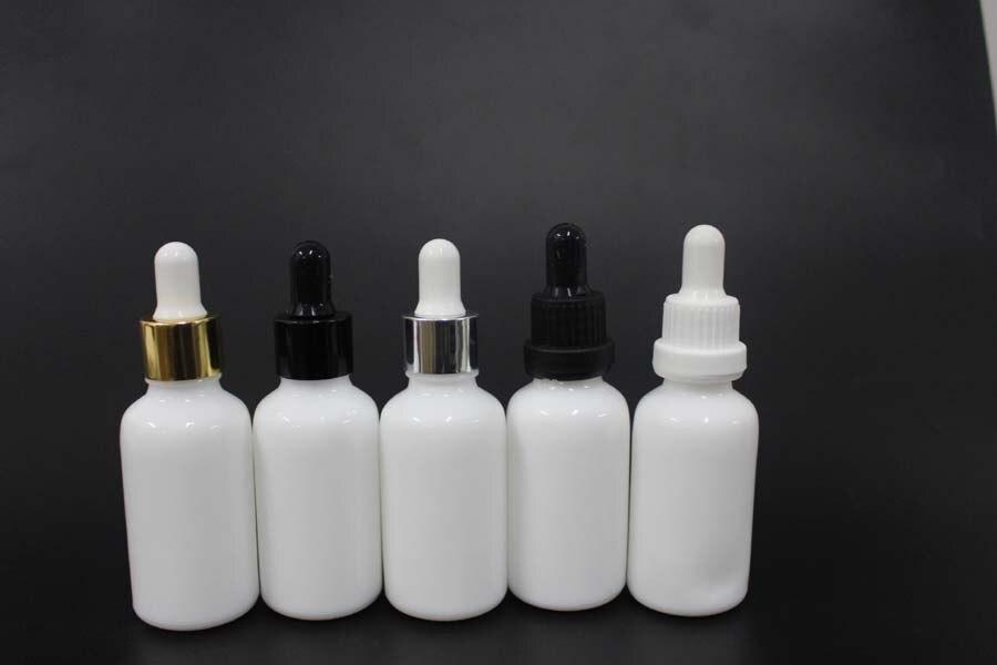50pcs 30 Ml Porcelain White Essential Oil Bottle Glass