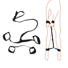 Hand Ankle Back Restraint Belt Couple Adult Sex Game Toys Bondage Rope HarnessAd