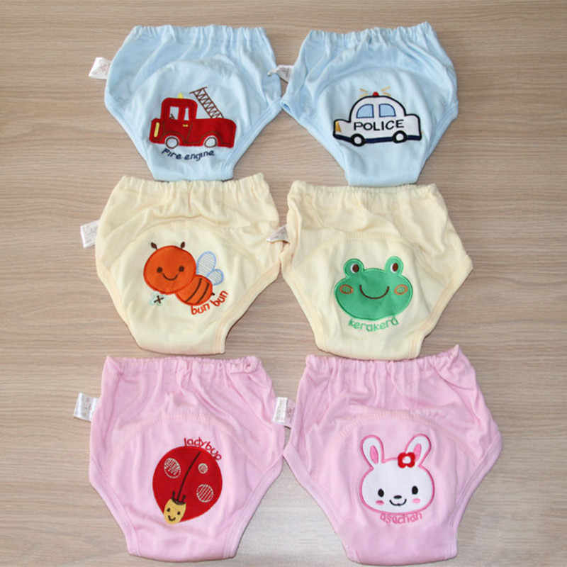 Washable Baby Training Nappies Pants for Boy Girl Pee Learning Underwears Briefs Infant Diapers Babi Shorts 4 layers Pack of 2