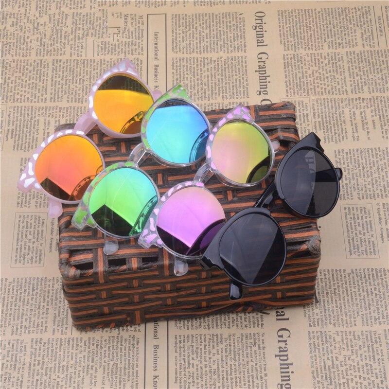 LATASHA  High Quality 2018 Kids Sunglasses Brand Baby Girls Sunglass Children Glasses UV400 Goggles Eyewear Clear Pink Sunglasse