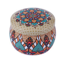 Lovely Creative Small Tin Box Baking Cookie Tea Packaging Round Drum Tinplate Candy Tin Boxes Case Jar Cup(China)