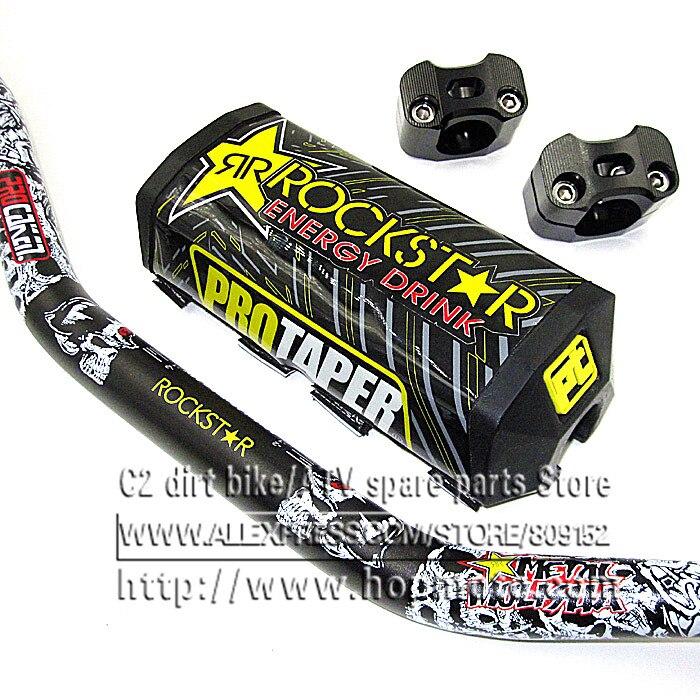 "Prix pour Pro Taper Fat Bar 1-1/8 ""Metal Mulisha Pack Dirt Bike Motocross Fat Bar MX En Aluminium Racing Guidon 810mm Noir"