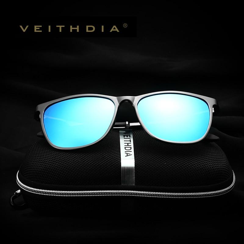 VEITHDIA Retro Aluminium Magnesium Brand Lelaki Cermin mata hitam - Aksesori pakaian - Foto 3