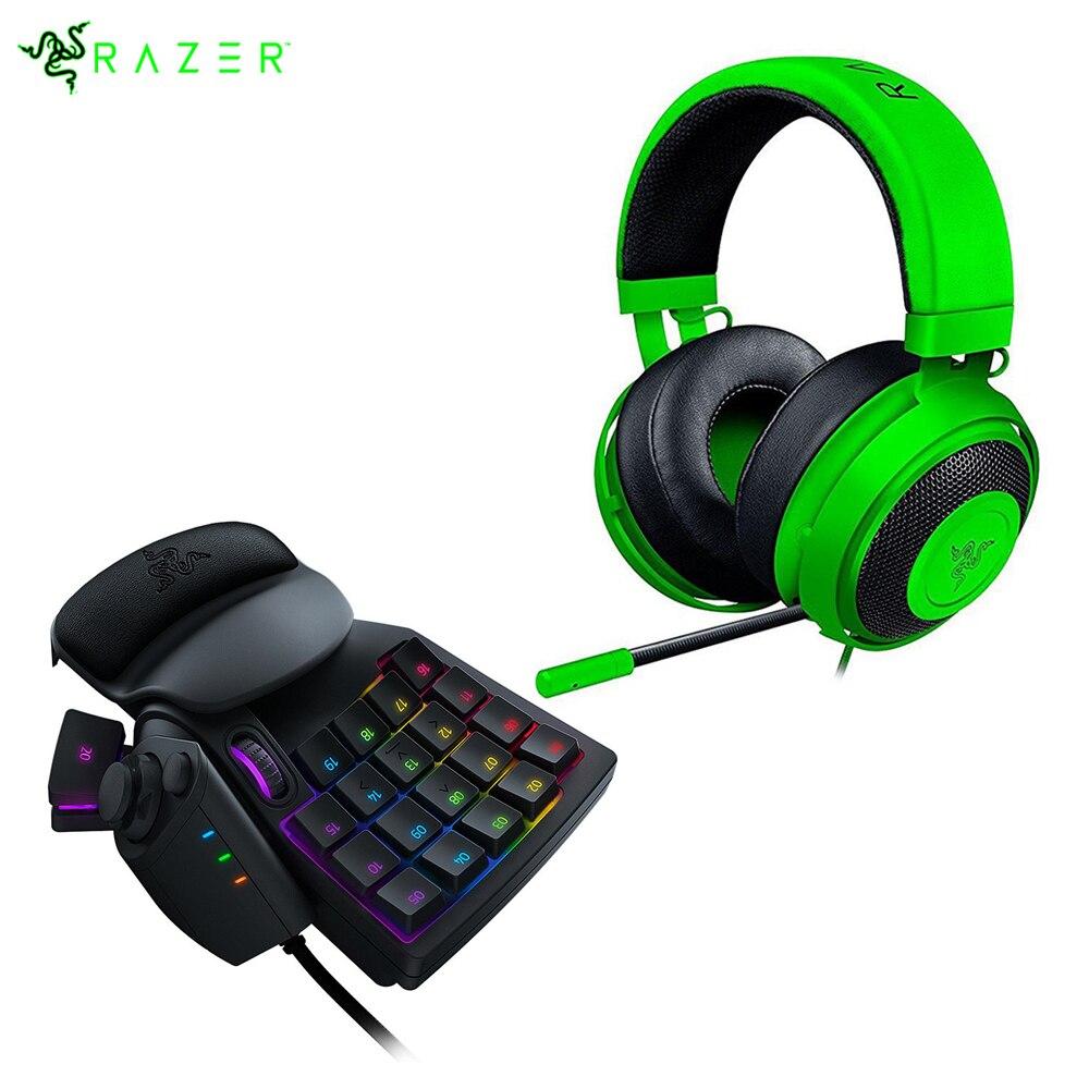 Razer Kraken Pro V2 Gaming Headphone For Pc Xbox One Sony Black Analog Headset Playstation 4 Tartarus Chroma Keypad In Earphones Headphones From