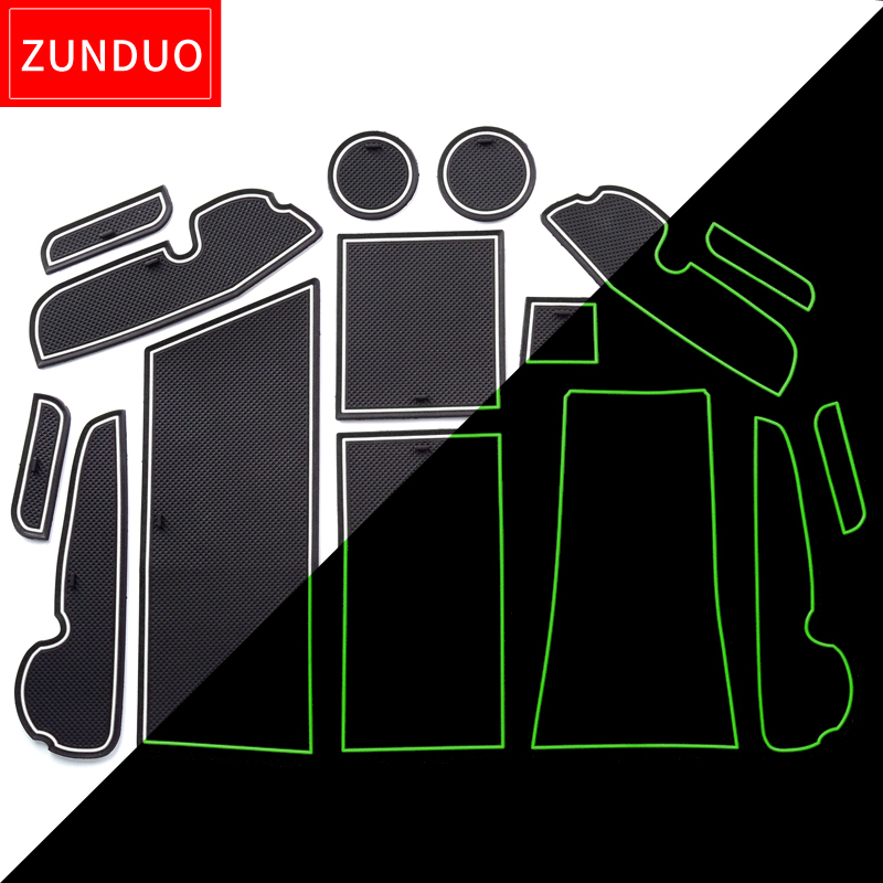 ZUNDUO Gate slot pad For TOYOTA PRIUS a/V/+ ZVW41W 2011-2018 Door Groove Mat Automotive interior Non-slip mats and dust mat 21 pcs set door groove mat for toyota camry 2018 cup armrest storage mat center console liner rubber non slip mat