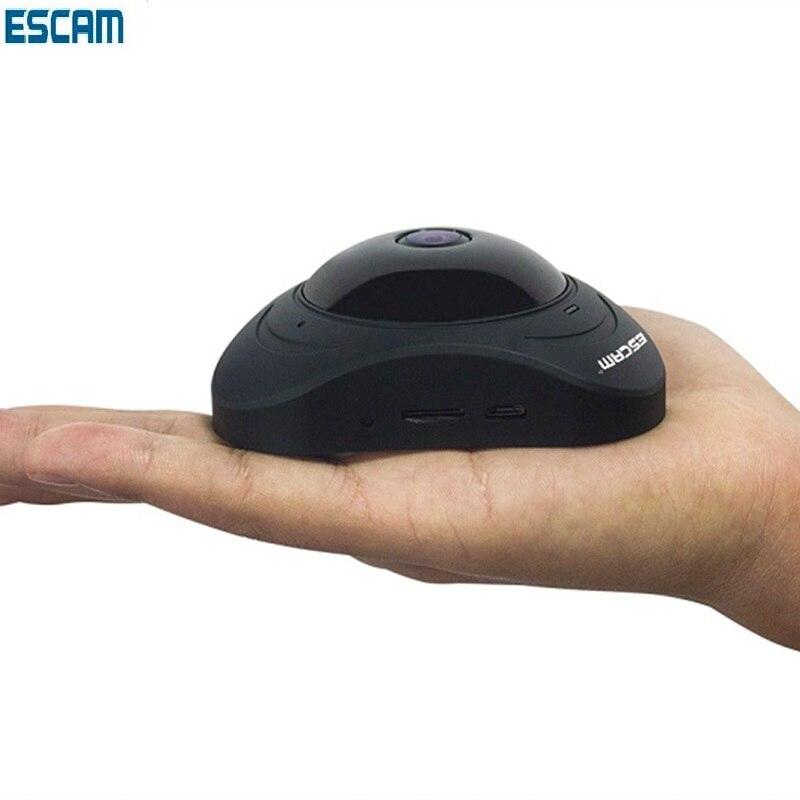 цена на Escam Q8 HD 960P 360 Degree Panoramic Ip Camera WIFI VR Wireless P2p Cctv Security Camera IR With Two Way Audio Motion Detector