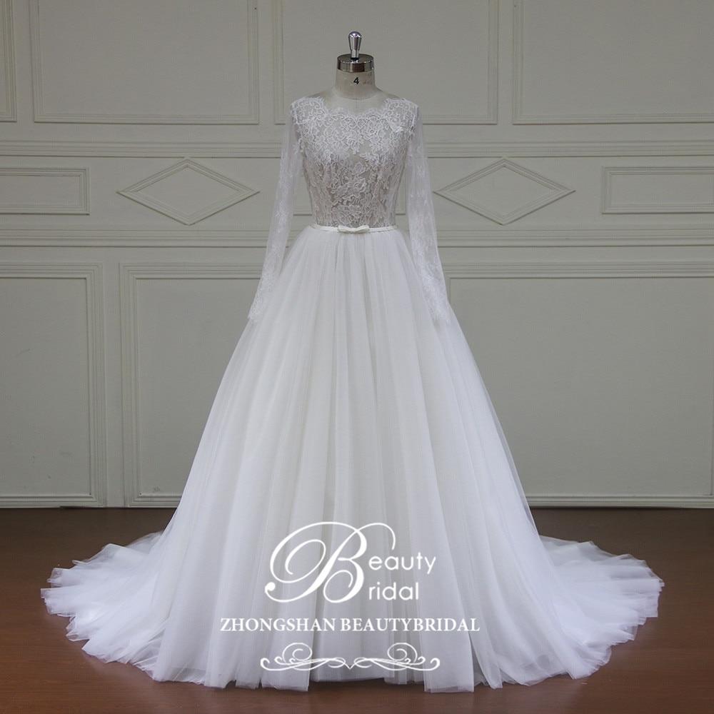 Beautybridal Elegant Customed Made Vestidos De Novia Bridal Dresses Real Photo Wedding Dresses Lace Tulle Wedding Gowns  YE002
