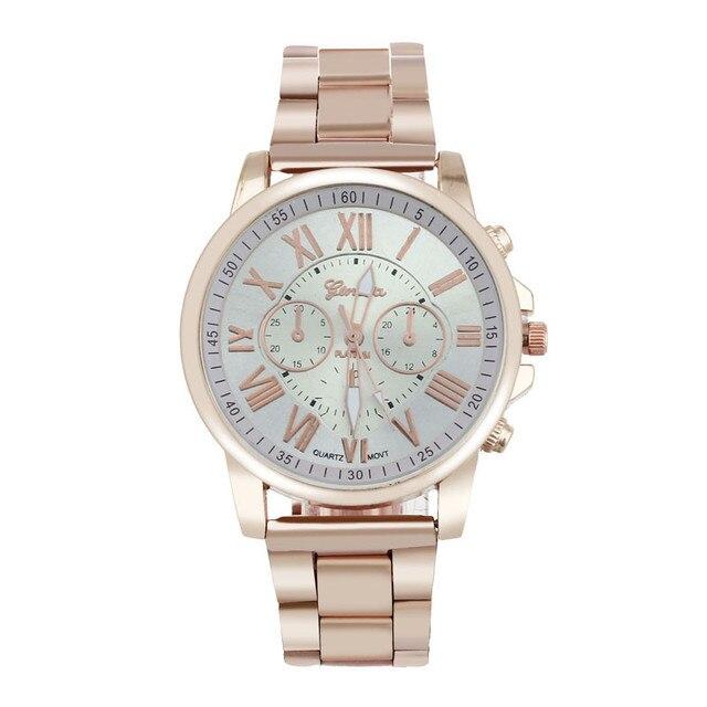 0581c610beb 2019 Watch Women Luxury Brand Steel Ladies Watch Clock Women Gold Date  Wristwatch Relogio Feminino Luxo Marca Kad N Saatleri