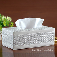 2017 New Style Artificial Leather Tissue Box 1pcs