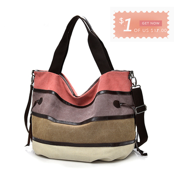 Canvas Women Handbags Colorful Messenger Shoulder Bags For Women Large Ladies Crossbody Tote Bag 1