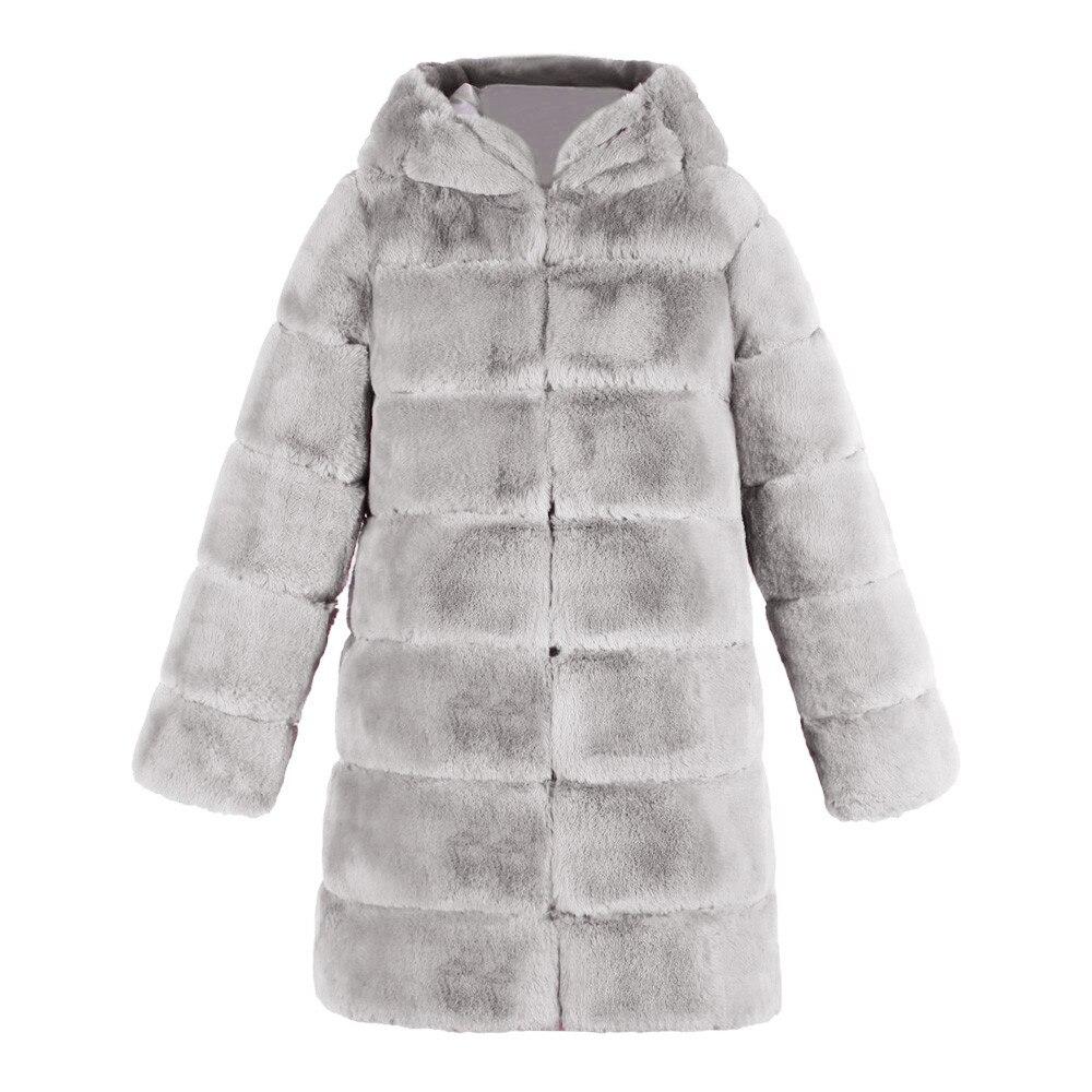 Bontjas Taille pp Doux Manteau Fausse Femme Fourrure Kurk Donna 5 Hoodies Fluffy Plus Épais Mode Streetwear Femmes Bk La gy Hiver Pelliccia twzEtR6q