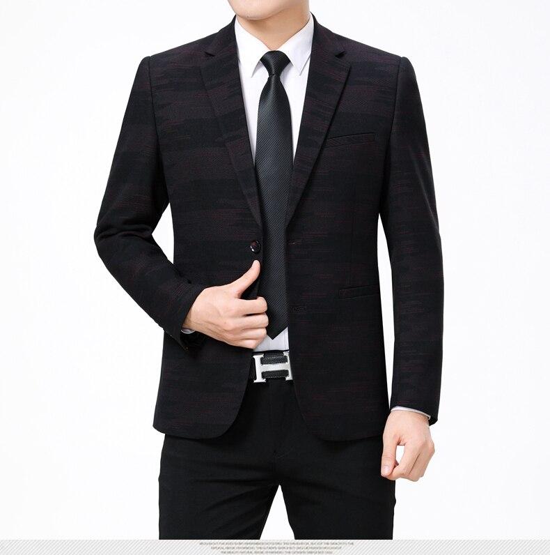 WAEOLSA Men Fashion Blazers Dark Green Red Jackets Suits Man Slim Fit Blazer Male Elegant Outfits Office Garment Print Blaser For Man (4)
