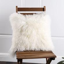 Tibet lamb skin fur seat pad 45*45cm, Ningxia sheep fur seat cushion rug for living room,curly Mongolian sheep fur seat mat