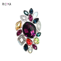 Brooch HIgh Quality Colorful Crystal Acrylic Rhinestone Brooches Pins Wedding Jewelry Wholesale Costume Accessories Foe Women