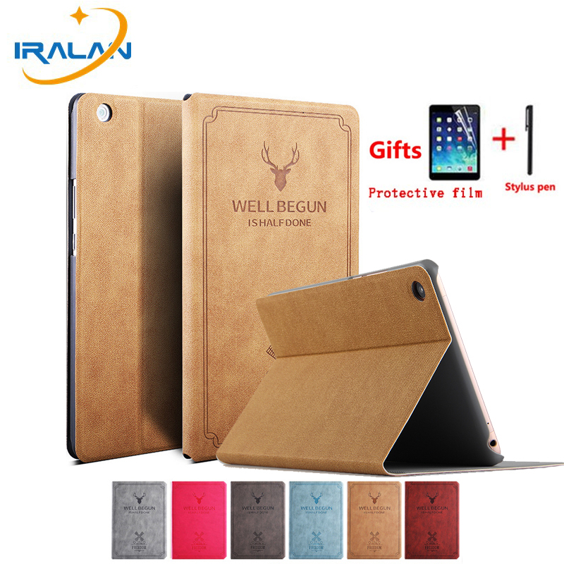 Vintage Deer Pu Leather Flip Stand Case For Huawei Mediapad M3 Lite 8.0 CPN-W09 CPN-L09 Smart sleep function Cover+Stylus+film  Vintage Deer Pu Leather Flip Stand Case For Huawei Mediapad M3 Lite 8.0 CPN-W09 CPN-L09 Smart sleep function Cover+Stylus+film