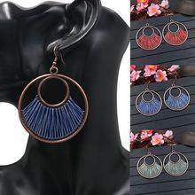 Ethnic Long Tassel Earrings women female Beaded Geometric Vintage Multilayer Temperament Bridal Jewelry Gift Accessorie