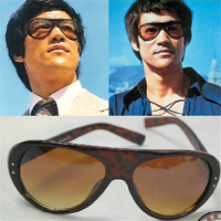 Cubojue Bruce Lee Brand Vintage Sunglasses Men Sun Glasses for Man Designer Original Sunglass Male Retro Aviation