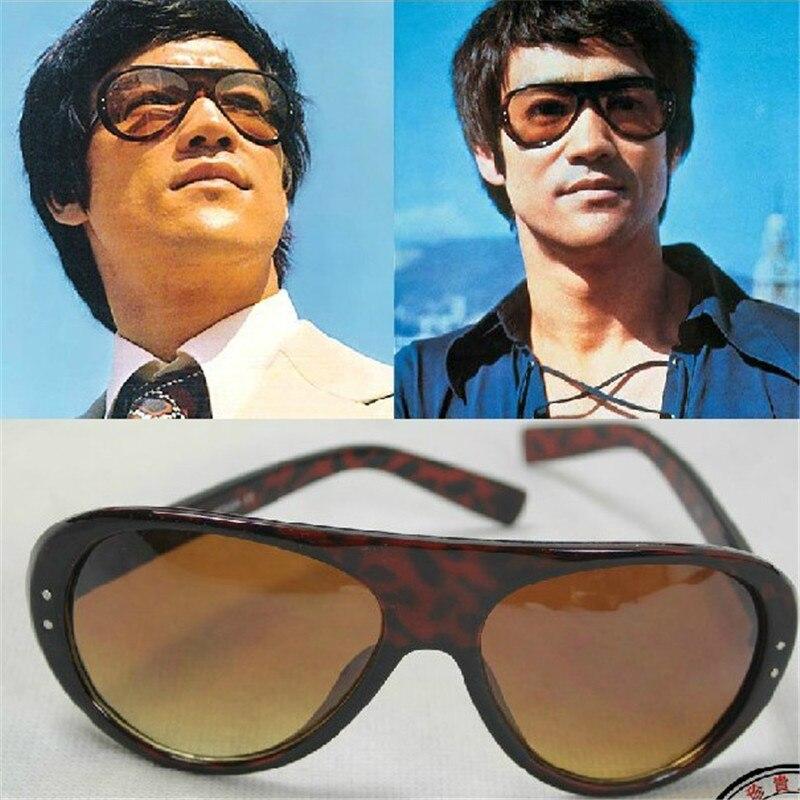 Cubojue Bruce Lee marque Vintage lunettes de soleil hommes lunettes de soleil pour homme Designer Original lunettes de soleil mâle rétro Aviation