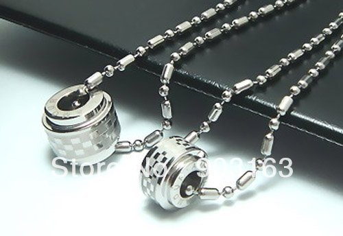 Wholesale Popular hot sell New Guaranteed 100% Stainless Steel Mens Pendant Necklace + free shipping