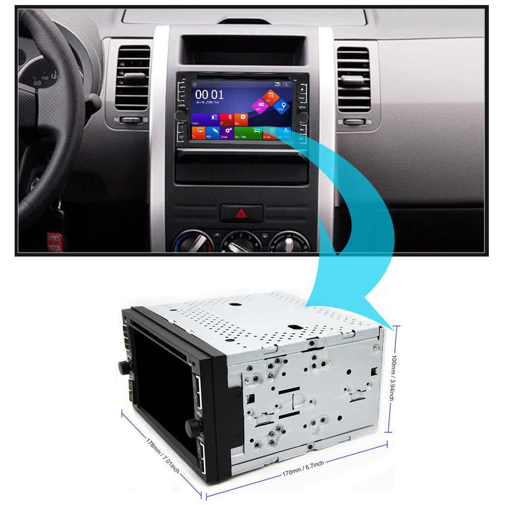 Eunavi 車 DVD プレーヤー GPS Glonass 2 ための 2 ディンユニバーサル X-TRAIL キャシュカイ x トレイル日産ジュークステレオラジオ Bluetooth USB/SD