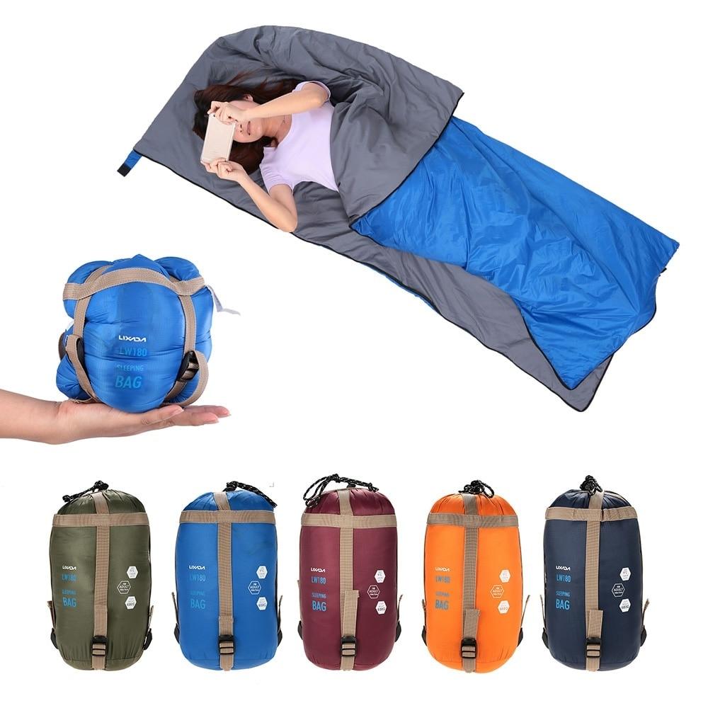 Lixada 190 * 75cm Outdoor Camping Bag Hiking Sleeping Bag Multifunctional Ultra-light Envelope Hooded Sleeping Bed Lazy Bag