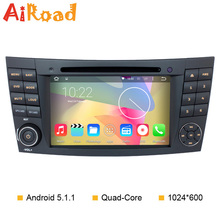 Android 5.1 Quad Core 1024*600 Car DVD GPS for Mercedes E-Class W211 E200 E220 E240 E270 E280 E300 E320 E350 E400 E420 E55 E500