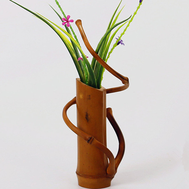 Handmade japanese bamboo flower vase for home decoration plant paint handmade japanese bamboo flower vase for home decoration plant paint high quality wedding decoration vase gift junglespirit Choice Image
