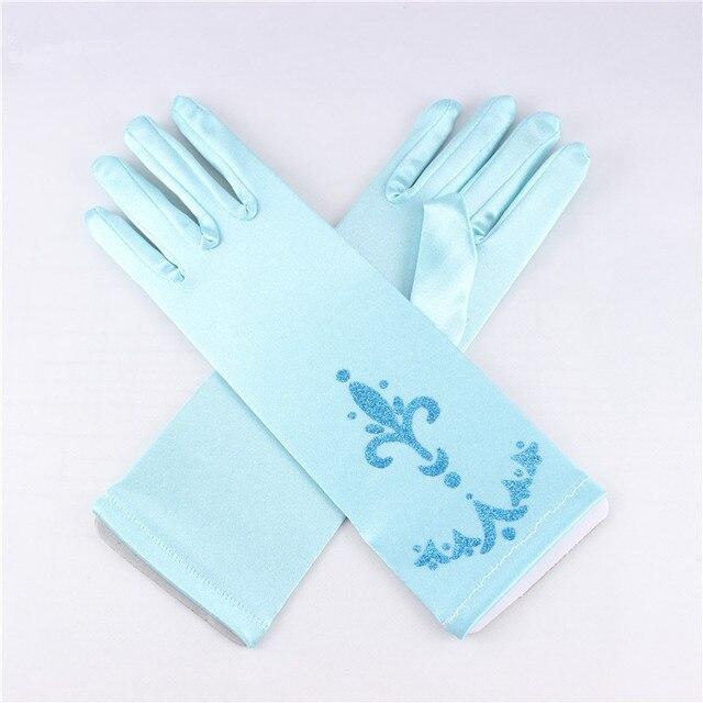 elsa deguisement 4 pcs accessoires ensemble couronne perruque baguette magique gant reine des neiges - Gants La Reine Des Neiges