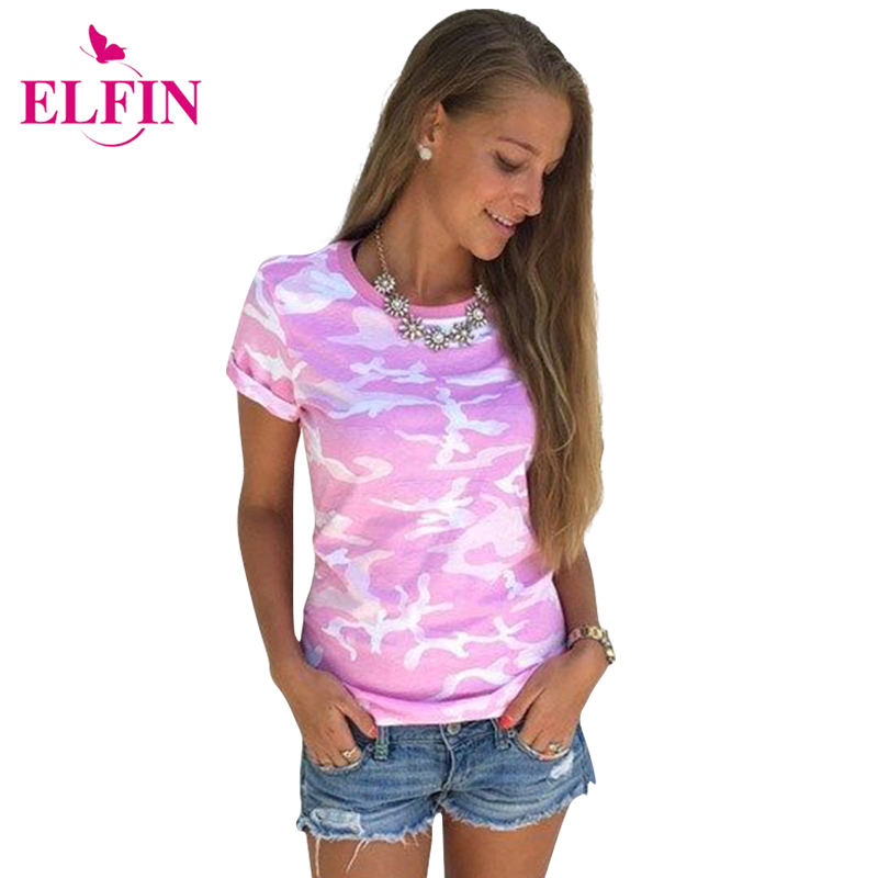 2017 Fashion Women T-shirt Harajuku Style Camouflage T-Shirt Female Tops Short Sleeve Casual Women T Shirts Clothes LJ8494R