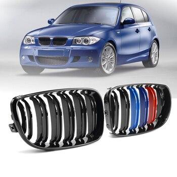 E82 E88 Решетка переднего бампера из углеродного волокна для BMW 1 серии E81 E82 E87 E88 2008-2013 глянец/матовый углерод >> Pelay Store