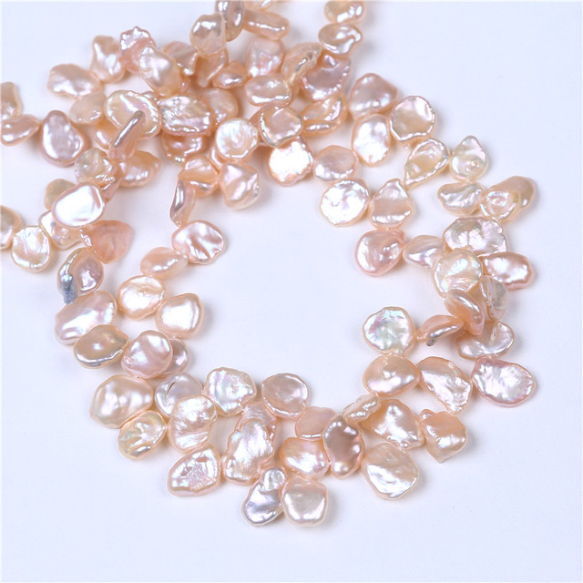 DIY AA Wholesale Pink Color Freshwater Keshi Pearl 8-9mm Loose Beads 16'' For Jewelry Making