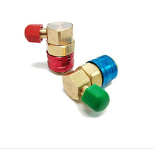 One Pair Air Condition Refrigerant Quick Couplers Connectors Adapters Conversion Auto Car High & Low Connector AC R134A 8Z012