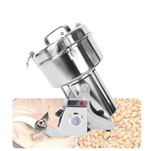 купить Powerful 500g Pulverizer Stainless Steel Food Grain Grinder Chopper Soybean Corn Herb Automatic Spice Milling Machine дешево