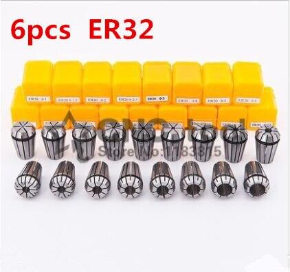 Escolher de 3mm-20mm para Cnc Quente Tamanho Er32 Precison Primavera Collet Chuck Máquina Torno Acessórios 6 Pçs – Set