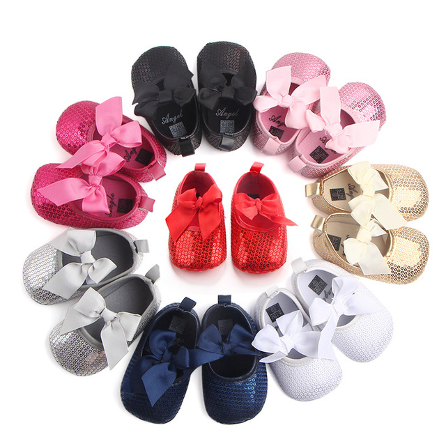 Baby Cute Shoes First Walker Toddler Kids Girls Cotton Sequin Infant Soft  Sole Bowknot Shoes Bottom Bebe Shoes 2eb7c3b4b426