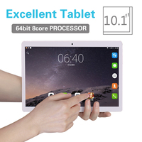 2018 Tablet PC 10.1 inch Android 8.0 Tablet pc Ram 2GB ROM 32GB 8 Octa Core Dual SIM 3G/4G LTE Bluetooth Wireless FM IPS Phone