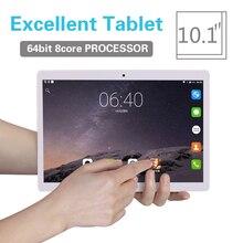 2018 планшет 10,1 дюйма Android 8,0 Tablet pc ОЗУ 2 ГБ Встроенная память 32 ГБ 8 Octa Core Dual SIM 3g/4G LTE bluetooth Беспроводной FM ips телефон