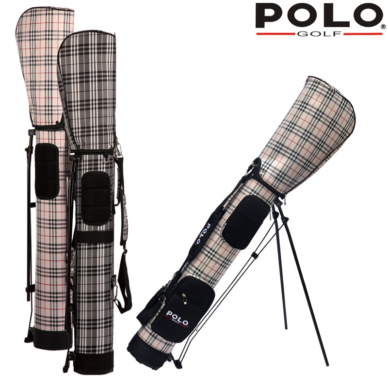 Polo Genuine New Men Golf Bag With Cover Waterproof Female Lattice Frame Package Golf Ball Bag Travel Golf Support Package122cm pgm vs golf standard ball package bag87 23 46cm men golf plaid club bag women ball environmental pu cart bag can hold 13 clubs