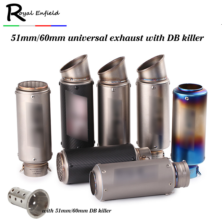 Motorcycle-Exhaust Muffler Pit Bike Db-Killer 51mm Universal BN600 Z800 Z1000 Gsxr 61mm