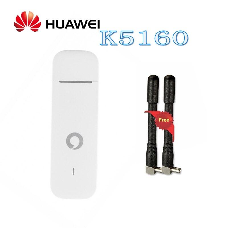 Débloqué Huawei K5160 4G LTE USB Dongle clé USB Datacard Mobile haut débit USB Modems 4G Modem LTE Modem avec antenne