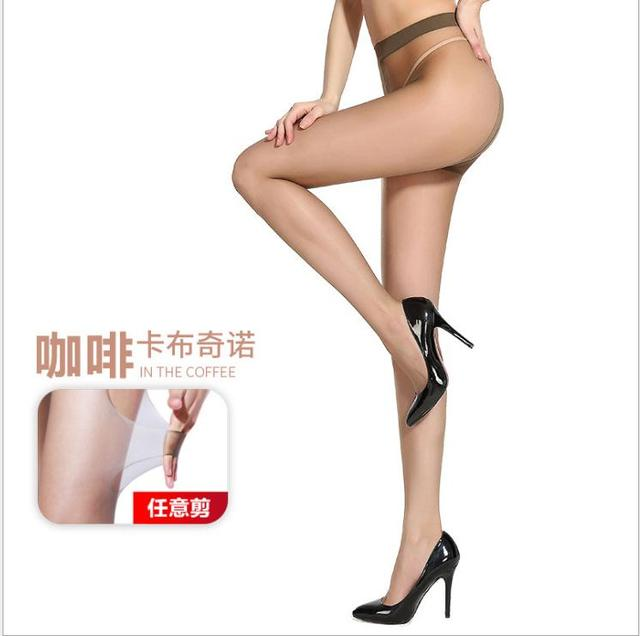 2D T crotch Thin invisible pantyhose Women's pantyhose,  sexy satin Stockings hose,Fitness Leggings  sexy lingerie 6007 1