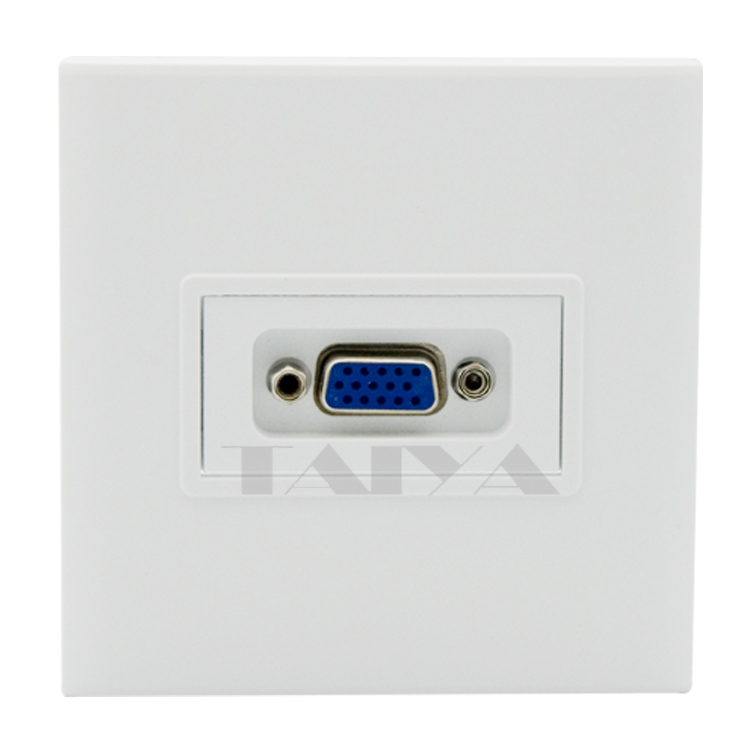 3+4 VGA wall plate with back side screw connectors