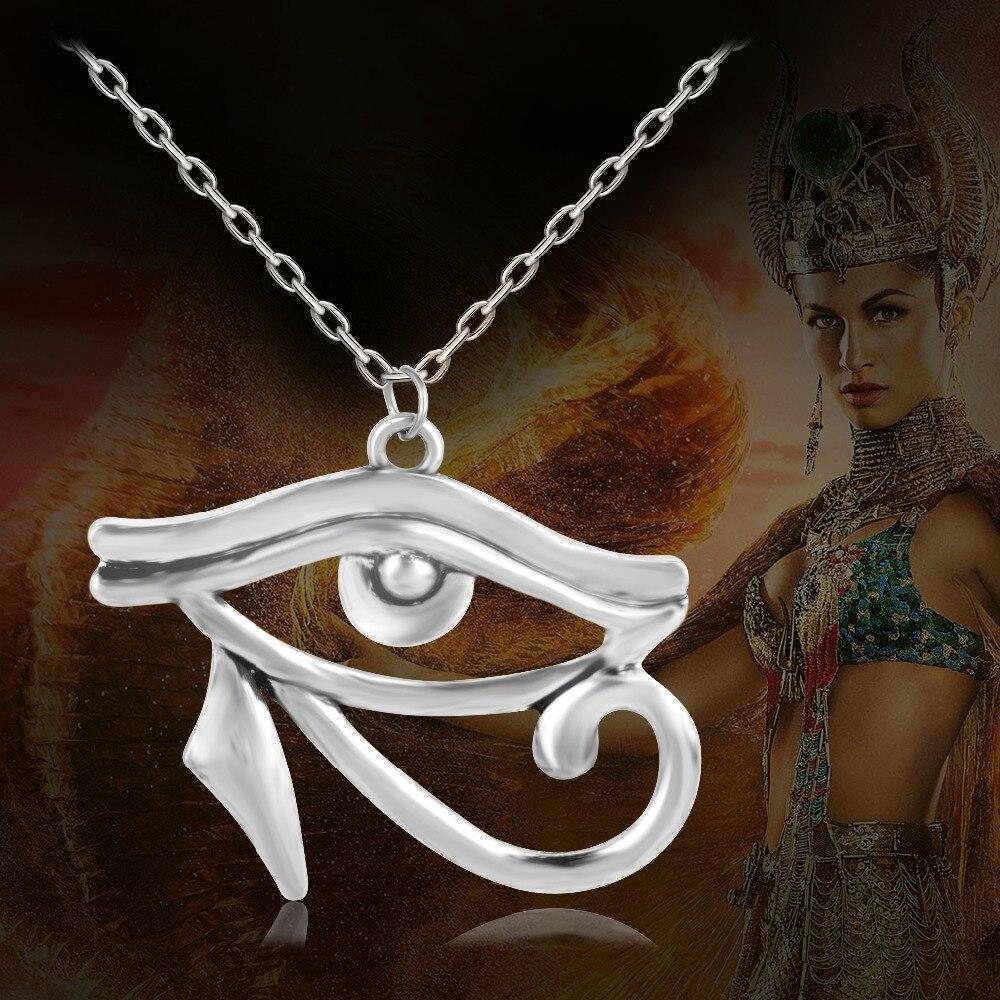 2016 New Punk Jewerly Gods Egyptian Eye of Horus Eye of Ra Wedjat Protective Amulet Pendant Necklace XL646