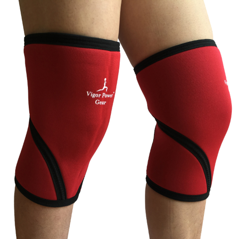 Free shipping Vigor Power Gear 7mm Knee Sleeves Knee Pads Knee Support for Sports, Fitness, Warmth, Compression, Recovery ...