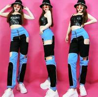 New women's trousers hip hop jazz dance costumes female students practice clothes j fashion tide street dance sports and leisure