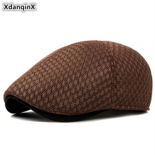 XdanqinX Unisex Summer Autumn Breathable Mesh Cap Couple Hat Fashion Ventilation Berets Multicolor Thin Sports Caps Snapback