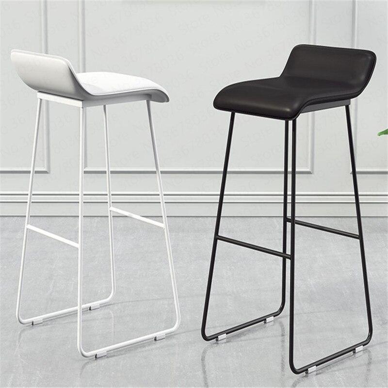 Nordic Bar Chair Coffee Milk Tea Lounge Chair Simple Bar Stool Designer Wrought Iron Gold High Chair Padded Bar Chair