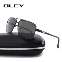 OLEY fashion Mens Sunglasses brand designer Polarized Square Sun Glasses for men Vintage Eyewear fishing drivers glasses Y1612