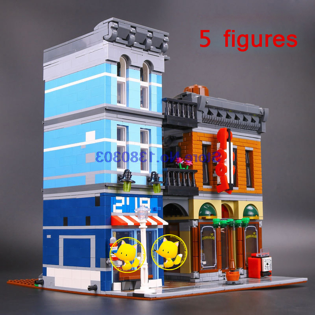 lego office building. Lego Office Building. Compatible With 10246 2262pcs Lepin 15011 Creator Expert Detective\\u0027s Building 0